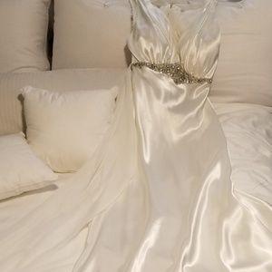 Niki Livas Designs Satin Wedding Gown